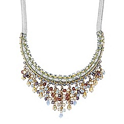Butterfly by Matthew Williamson - Designer bead droplet statement necklace