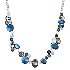 Butterfly by Matthew Williamson - Designer tonal blue crystal necklace