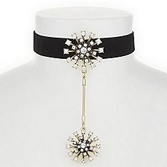 Butterfly by Matthew Williamson - Designer crystal starburst choker necklace