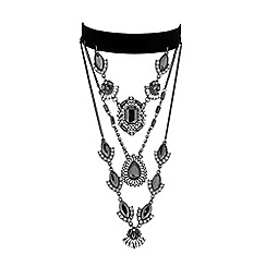 Butterfly by Matthew Williamson - Designer ornate crystal layered choker necklace
