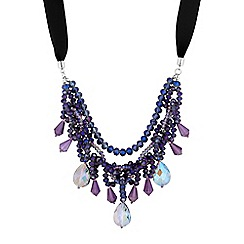Butterfly by Matthew Williamson - Designer tonal bead multi row necklace