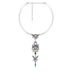 Butterfly by Matthew Williamson - Designer crystal cluster drop necklace