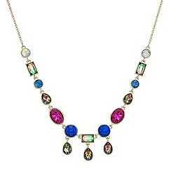 Butterfly by Matthew Williamson - Multi colour crystal droplet necklace