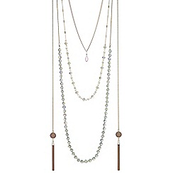Butterfly by Matthew Williamson - Bead and tassel rope necklace