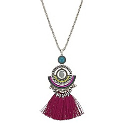 Butterfly by Matthew Williamson - Crystal fringe long necklace