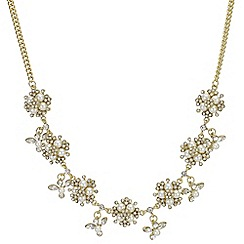 Butterfly by Matthew Williamson - Pearl and crystal cluster necklace