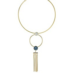 Butterfly by Matthew Williamson - Designer crystal druzy stone torque necklace