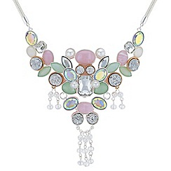 Butterfly by Matthew Williamson - Designer layered crystal statement necklace