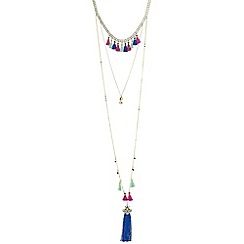 Butterfly by Matthew Williamson - Designer multi tassel layered necklace