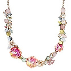 Butterfly by Matthew Williamson - Designer floral sequin statement necklace