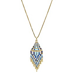 Butterfly by Matthew Williamson - Designer beaded tassel pendant necklace