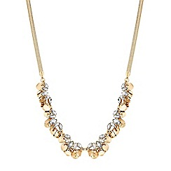 Butterfly by Matthew Williamson - Gold crystal and coin cluster shaker necklace