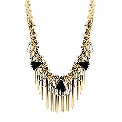 Butterfly by Matthew Williamson - Gold charm cluster statement necklace