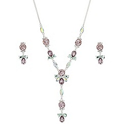 Butterfly by Matthew Williamson - Pink crystal Y necklace jewellery set