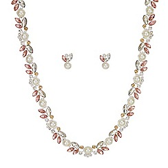 Butterfly by Matthew Williamson - Pearl and crystal cluster jewellery set