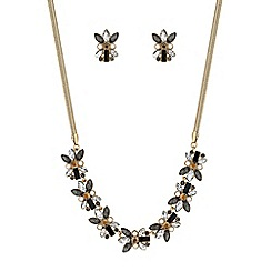 Butterfly by Matthew Williamson - Gold floral crystal jewellery set