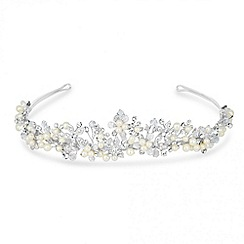MW by Matthew Williamson - Designer crystal and pearl embellished flower tiara