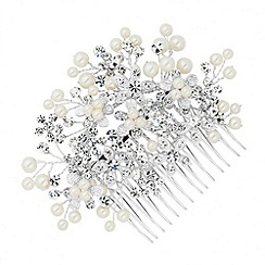 Butterfly by Matthew Williamson - Designer crystal and pearl embellished flower hair comb