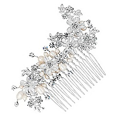 MW by Matthew Williamson - Designer crystal flower and freshwater pearl hair comb