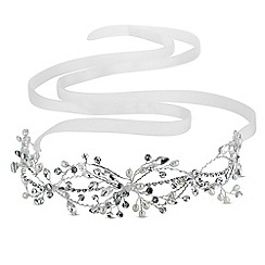 Butterfly by Matthew Williamson - Designer delicate crystal and pearl hair ribbon