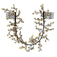 MW by Matthew Williamson - Bronze beaded statement hair vine