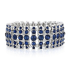 Butterfly by Matthew Williamson - Designer blue crystal cluster bracelet