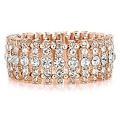 Butterfly by Matthew Williamson - Designer rose gold crystal cluster bracelet