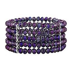 Butterfly by Matthew Williamson - Designer tonal bead stretch bracelet