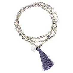 Butterfly by Matthew Williamson - Purple beaded tassel bracelet set