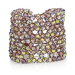 Butterfly by Matthew Williamson - Beaded cluster cuff bracelet