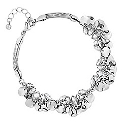 MW by Matthew Williamson - Silver crystal and coin cluster shaker bracelet