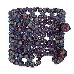 MW by Matthew Williamson - Purple beaded statement cuff bracelet