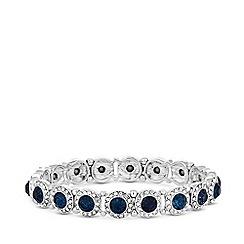 MW by Matthew Williamson - Silver plated blue glass montana stretch bracelet