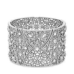 MW by Matthew Williamson - Silver plated silver statement filigree stretch bracelet