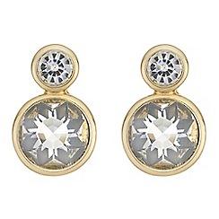 Principles - Double crystal drop earrings