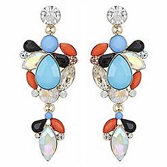Principles - Crystal cluster drop earrings