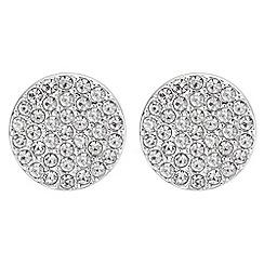 Principles - Pave disc stud earrings