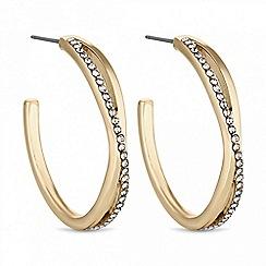 Principles - Pave hoop earring