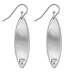 Principles - Crystal organic twist drop earrings