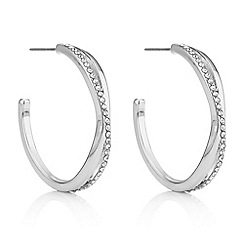 Principles - Crystal twist hoop earrings