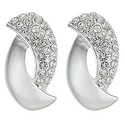 Principles - Pave twist drop earrings
