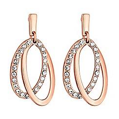 Principles - Pave hoop drop earrings