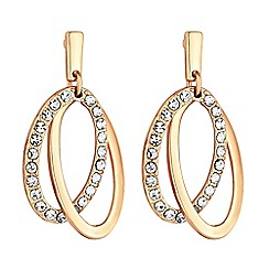 Principles - Pave hoop drop earrings