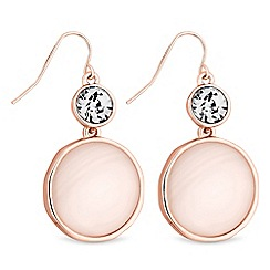Principles - Shell disc drop earrings