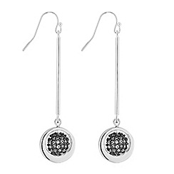 Principles - Silver pave orb drop earring