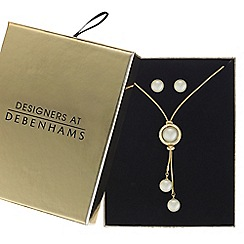 Principles - Pearl orb jewellery set in a gift box