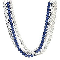 Principles - Pearl multi row necklace