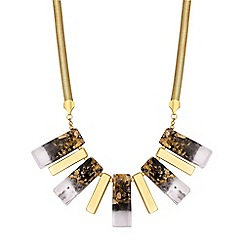 Principles - Gold flecked statement necklace