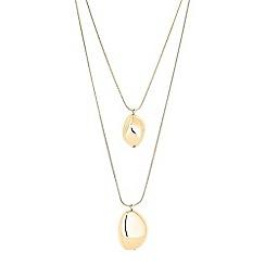 Principles - Pebble multi row necklace