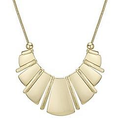 Principles - Gold fan necklace